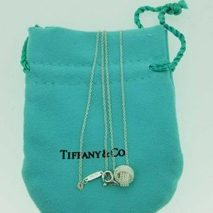 "Tiffany&Co Silver Twist Knot Pendent with 16""chain"